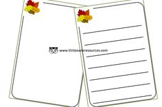 FREE Autumn Leaves Blank Sheets Early Years (EYFS) Printable Template Resource — Little Owls Resources - FREE Nursery Practitioner, Early Years Teacher, Eyfs, Mark Making, Nursery Rhymes, Coloring Sheets, Phonics, Learning Activities, Autumn Leaves