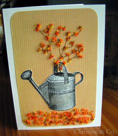 Autumn Card with Flower Soft and The Graphics Fairy ~ Christine & Co.