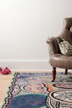 Anthropologie Paisley Rug