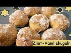 Achtung Suchtgefahr: Zimt-Vanillekugeln und ganz schnell gemacht! - YouTube Hamburger, Biscuits, Muffin, Food And Drink, Sweets, Bread, Cookies, Breakfast, Desserts