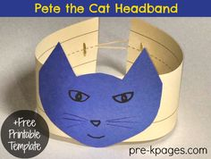 Pete the Cat Headband for Simple Story Problems (from Pre-K Pages)