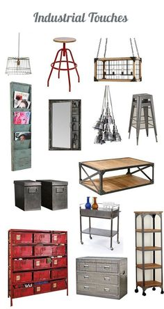 12 Ways to Warm Up Industrial Style It's fun to observe what is on the horizon in interior design, what styles have staying power, and what looks are simply trends that will pass. Industrial chic has been a popular look in design for quite some time with Industrial Chic Decor, Industrial House, Industrial Furniture, Home Furniture, Modern Industrial, Kitchen Industrial, Industrial Lighting, What Is Industrial Design, Rustic Chic