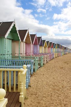 pastel houses at the sand