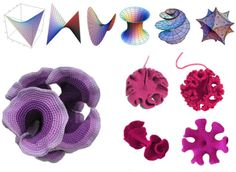 """A pinner asked and the original artist has provided!-"""" hyperbolic geometry through crochet"""" yes there are patterns and even a book. Check related pins! Glad you asked!"""