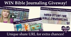 WIN Bible Journaling Course, Private Lesson & Artwork Giveaway!