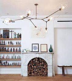 A great solution for a non functioning fireplace.