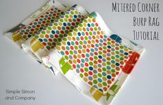 Self binding burp cloth - could use terry cloth or something more absorbant for the smaller fabric.