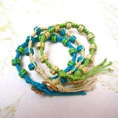 Bracelet stack, macrame bracelet set, Beaded bracelet stack, stacker bracelets, macrame bracelets,. £24.00, via Etsy.