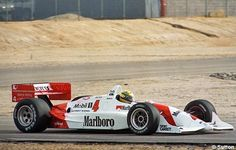 In December of 1992, Senna flew to the States to test one of Roger Penske's Marlboro-Penske-Chevy Indy cars at Firebird Raceway