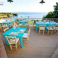 Blue infinity restaurant Skiathos!