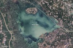 Nansi Lake, China: The fingerprints of human civilization are all over the lake in eastern China.