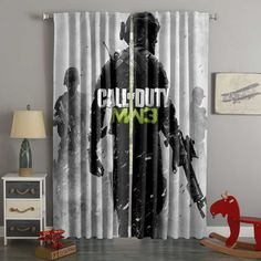 Printed Call Of Duty Style Custom Living Room Curtains – Westbedding 3d Curtains, Long Curtains, Custom Curtains, Curtain Fabric, Blackout Curtains, Panel Curtains, Custom Bedding, Layered Curtains, Home Goods