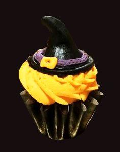 cupcake chapeau sorcière halloween / witches hat