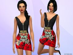 The Sims Resource: Designer Dress by PureSim • Sims 4 Downloads