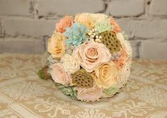 Preserved Bridal Bouquet  Roses Succulents by MaisonDeLaCroix, $225.00