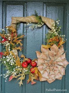 Make a wreath from an old picture frame