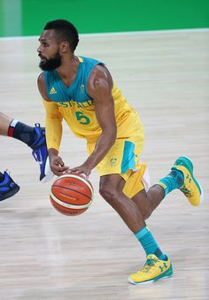 #RIO2016 Best of Day 1 - Patty Mills of Australia in action during the group phase basketball match between France and Australia on day 1 of the Rio 2016 Olympic Games at...