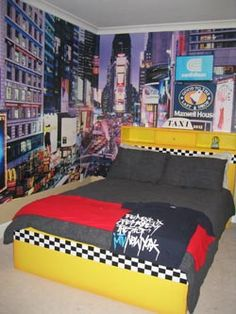 City theme bedrooms on pinterest london theme bedrooms london theme rooms and british themed - New york girls room ...