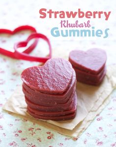 Strawberry Rhubarb Gummies - could use  Easter silicone mold!