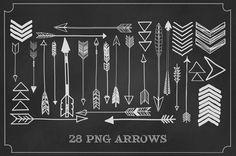 28 .png arrows/ digital clip art by michLgstudios on Etsy, $6.35