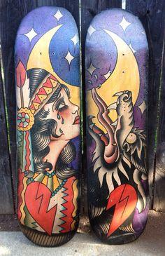 Howl, ORIGINAL, Skateboard Art on Etsy, $200.00