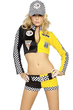 3 PC FULL THROTTLE COSTUME,sports costumes, sexy sports costumes, sports costumes for women, sport costumes, halloween sports costumes,sports costumes, sports costumes for women, sport costumes, easter costumes, snow white costume,halloween sports costume ☂ ✿ ☂ ☂