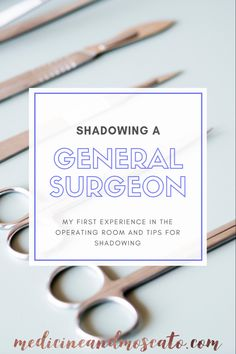 Talking all about my first experience in the operating room