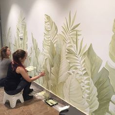 Home Interior Cuadros # # Wall Painting Decor, Mural Wall Art, Wall Paintings, Beautiful Houses Interior, Bedroom Murals, Paint Designs, Interior Design Living Room, Wall Design, Design 3d