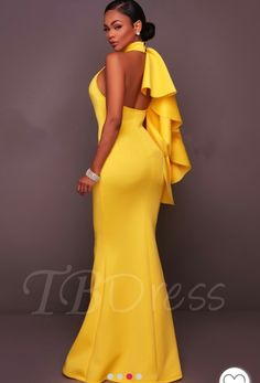 New Fashion Dress For Girl 2018 In Pakistan Elegant Dresses, Sexy Dresses, Beautiful Dresses, Formal Dresses, Dinner Gowns, Evening Dresses, Look Formal, Latest African Fashion Dresses, Yellow Fashion