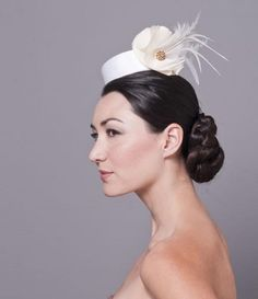 Upswept Hairstyles with Hat for a Wedding