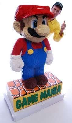 Giant Mario Joins in on the LEGO Madness #lego #toys