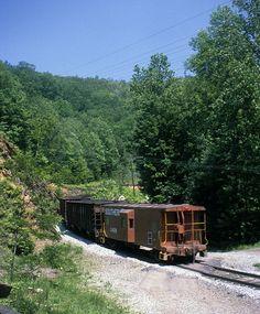 Southern Railway loaded coal train on the upper horseshoe curve