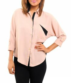 Amazon.com: G2 Chic Women's Colorblock Chiffon Top with 3/4 Sleeves: Clothing $20.02