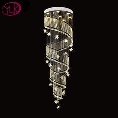 Creative Design New Modern Crystal Chandelier Lighting For Stair Home Decor Hanging Light Fixture Hallway LED Lustre Cristal