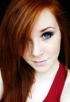 Gorgeous blue-eyed redhead.