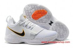21df87849fb7 Welcome to cheap Nike PG 1 Home PE Clean White Black and Yellow Swoosh  Men s Basketball Shoes for sale