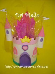 Ideas, centro de mesa castillo de Princesas #manualidades #gomaeva