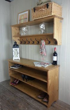 Please read details for a discount Entry Furniture, Luxury Home Furniture, Diy Pallet Furniture, Upcycled Furniture, Furniture Design, Coat And Shoe Storage, Entryway Shoe Storage, Bench With Storage, Wood Shop Projects