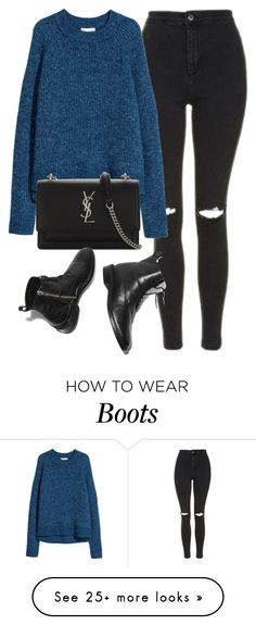 """Untitled #7142"" by laurenmboot on Polyvore featuring Topshop, H&M and Yves Saint Laurent"
