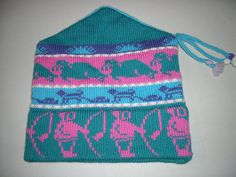 Womens Vintage Colorful Dome Wool Winter Hat Mountain by BathoryZ