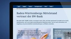 BW-Bank Landingpage Vertrauen
