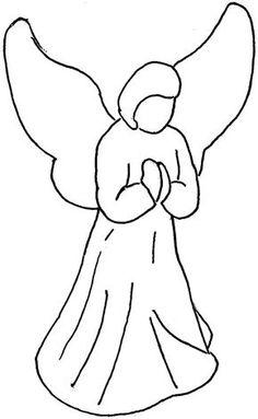 angel clip art simple angel clipart black and white free rh pinterest com angel outline clipart black and white angel fish clipart black and white