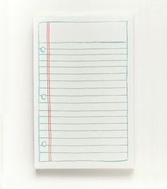 Lined Paper Notepad  impractical but so... cute...