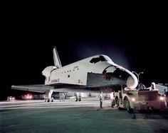 Kennedy Space Center, Florida, Aug 10, 1981; Orbiter Columbia tow from OPF to VAB / Photo: NASA