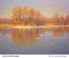 Impressionist Paintings, Landscape Paintings, Landscapes, Oil Paintings, Small Paintings, Large Painting, John Mcdonald, Water Element, Winter Landscape