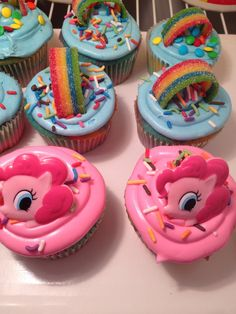 my little pony cupcakes   | My Little Pony Cupcake idea
