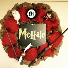 Harry Potter wreath visit littlemrsmoffittmadeit on fb for orders