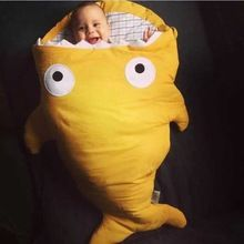 Новинка конверты для новорожденных зима акула ребенок спальный мешок летом используется на коляски кровать пеленание обертывание милый мультфильм постельных принадлежностей(China (Mainland))