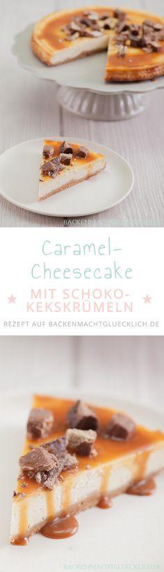 Dieser wunderbar cremige American Cheesecake wird durch den Karamell-Keks-Boden sowie das Topping so besonders. Plus Tipps im Rezept wie der Käsekuchen auch ohne Wasserbad nicht einfällt