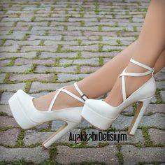 Wedding Shoes, for Brides #bridal #heels #white